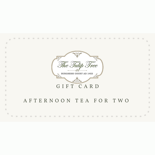 The Tulip Tree Gift Card Afternoon Tea for Two