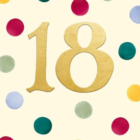 18 Emma Bridgewater 18th Birthday Card