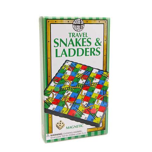 Magnetic Travel Snakes and Ladders - House of Marbles