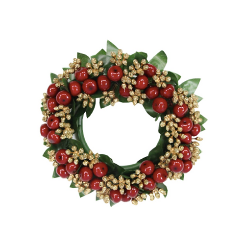 Large Gold Glitter Berry Candle Ring