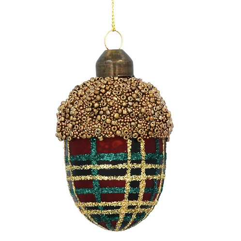 Red and Gold Tartan Acorn