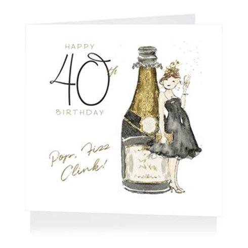 40 Fabulous 40 Birthday Card