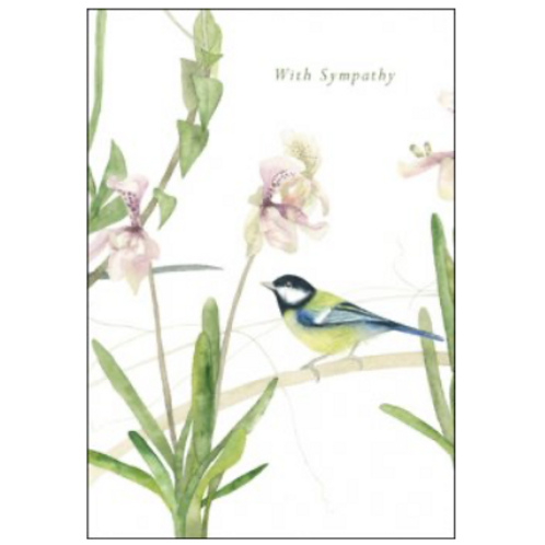 Among the Orchids Sympathy Card