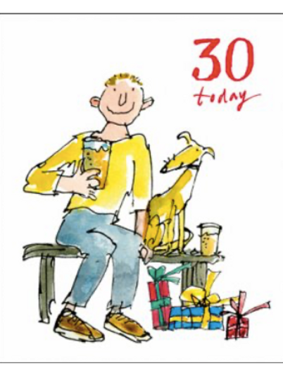 30 Quentin Blake 30 Today Birthday Card