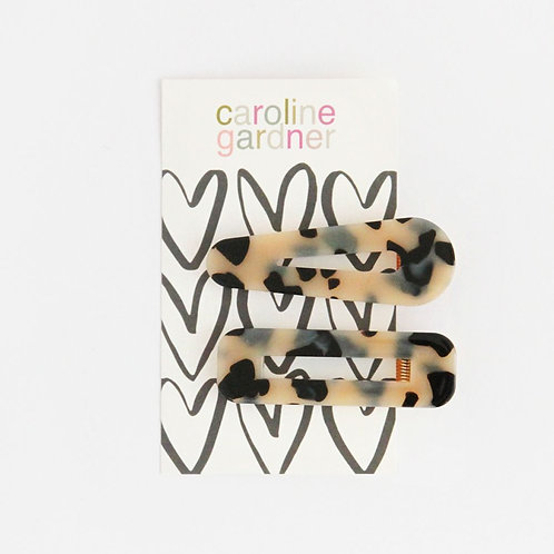 Tortoiseshell Hair Clips - Set of 2