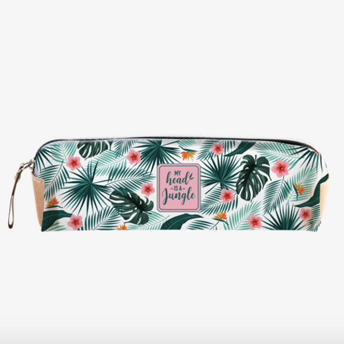 Tropical Transparent Pencil Case