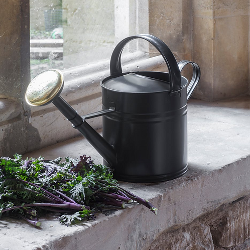 Black and Brass 5L Watering Can