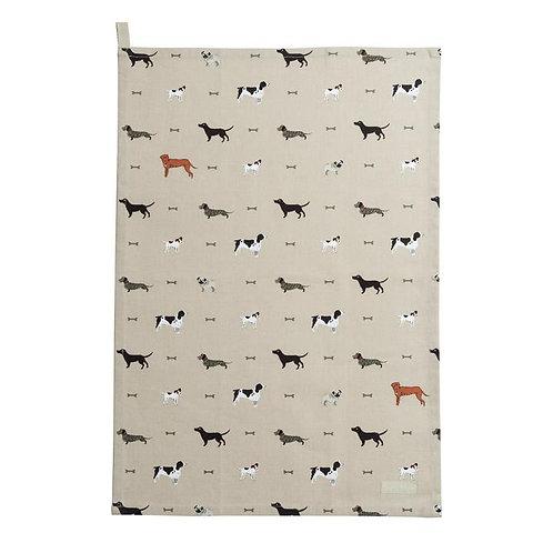 Sophie Allport 'Woof' Tea Towel
