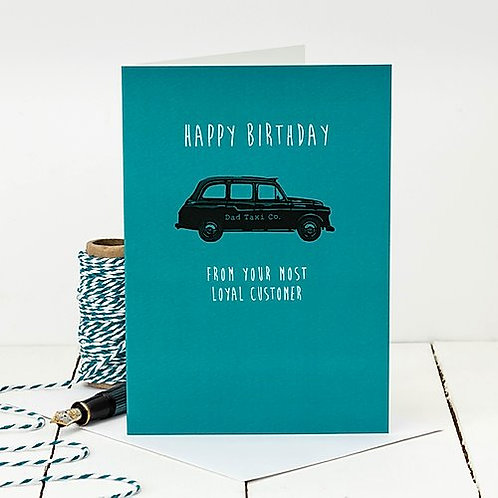 Taxi Driver Funny Birthday Card for Dad
