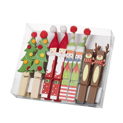 Wooden Decorative Peg Set
