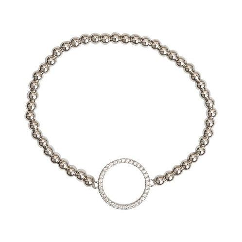 Kylie Metal and Crystal Elasticated Beaded Bracelet