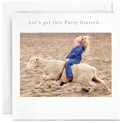 Let's get this Party Started Card