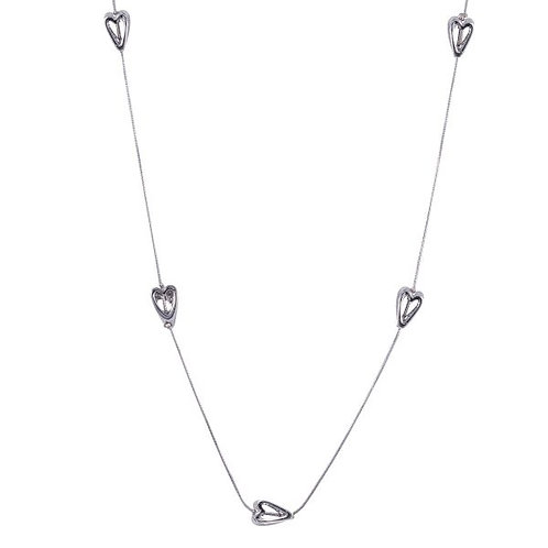 Sweetheart Metal Heart Necklace