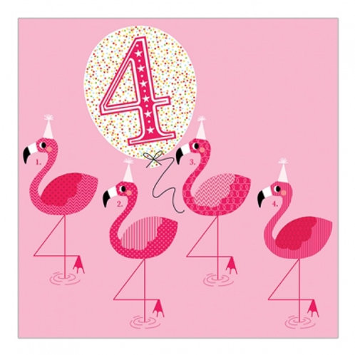 4 Flamingos. Pink