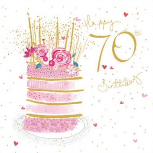 70 Wonderful 70th Birthday Card