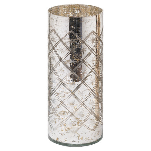 The Noel Collection Silver Foil Effect Vase