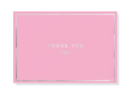 Pink Elegance Thank You Notes
