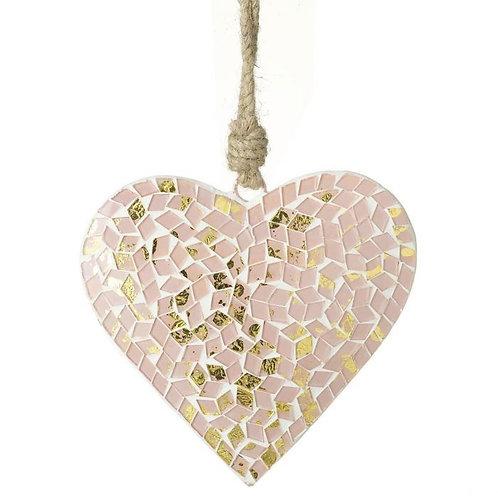 Mosaic Hanging Heart Decoration