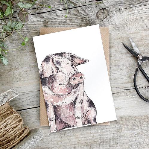 Miss Pig Card