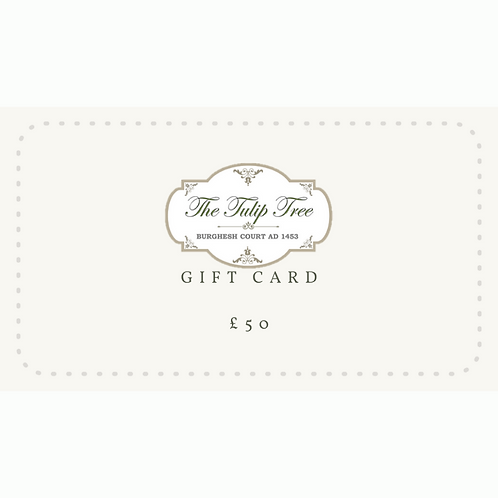 The Tulip Tree Gift Card £50