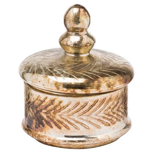 The Noel Collection Burnished Small Decorative Trinket Jar