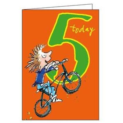 5 Quentine Blake Peddling Away Birthday Card