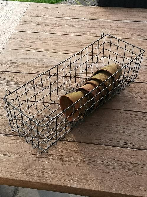 Casa Verde Set of Two Wire Shelf Basket Oviedo Zinc