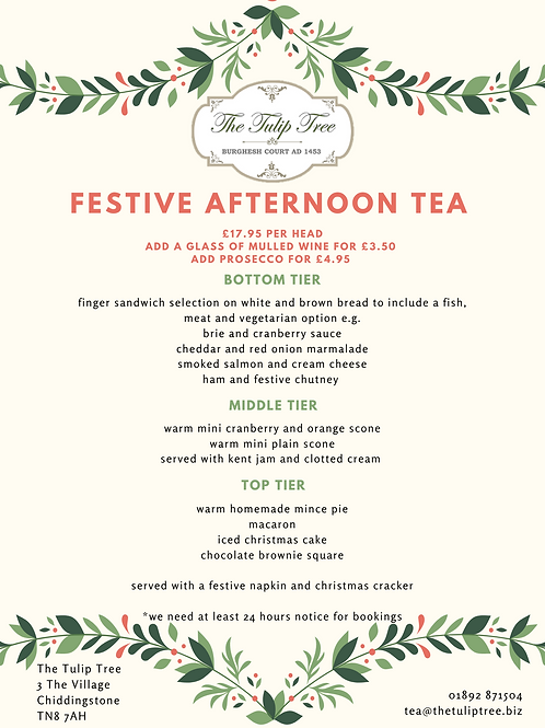 Takeaway Festive Afternoon Tea