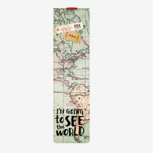 Maps Bookmark with Elastic Band