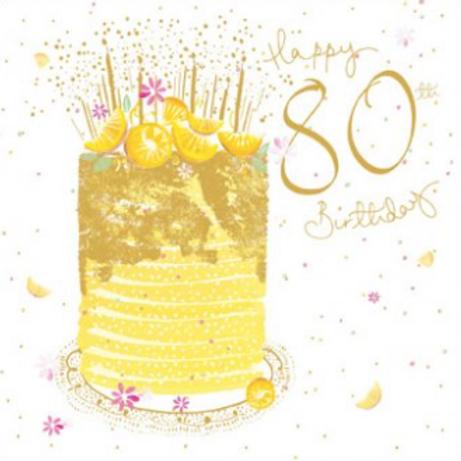 80 Wonderful 80th Birthday Card
