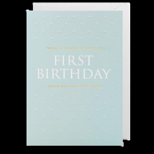 1 First Birthday Little Man Card