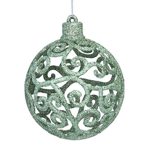 Pale Green Filigree Ball Decoration