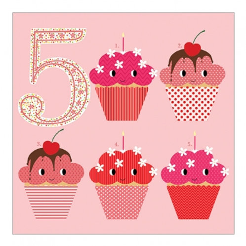 5 Cakes. Pink