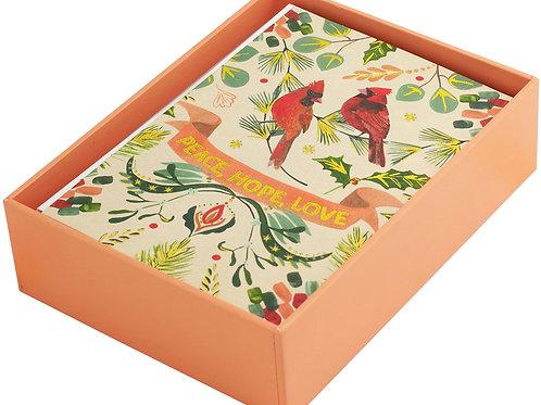 Festive Cardinals Card Pack