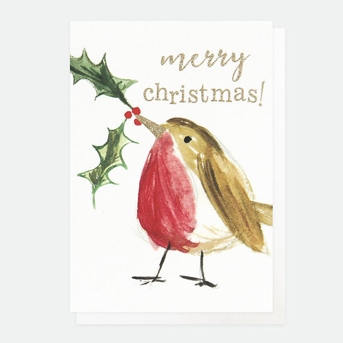 Painted Robin Small Card Pack of 10
