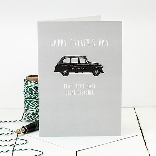 Taxi Driver Funny Father's Day Card