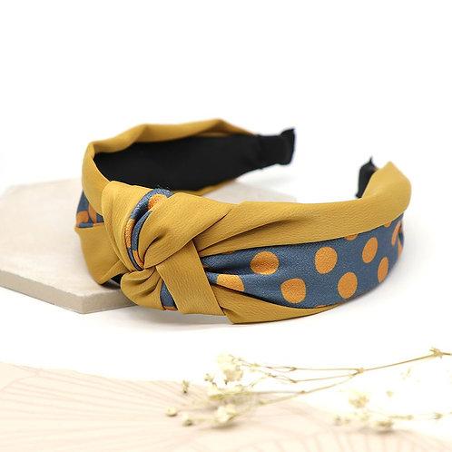 Mustard spotty headband