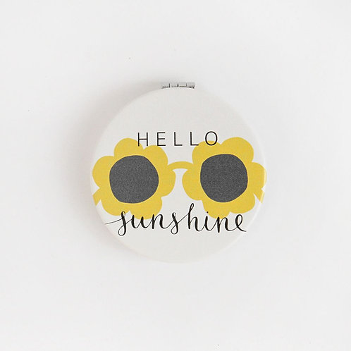 Hello Sunshine Pocket Compact Mirror