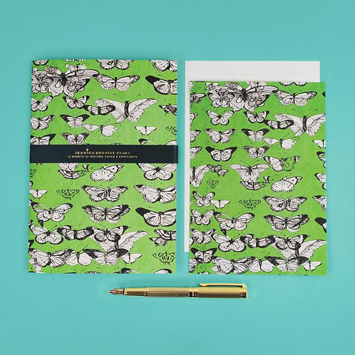 Jessica Russel Flint Writing Paper and Envelope Set 'Vintage Butterflies'