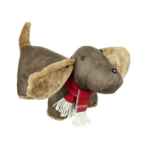 Mock Leather Sausage Dog With Scarf