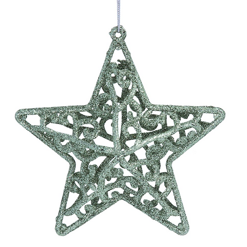 Pale Green Filigree Star Decoration