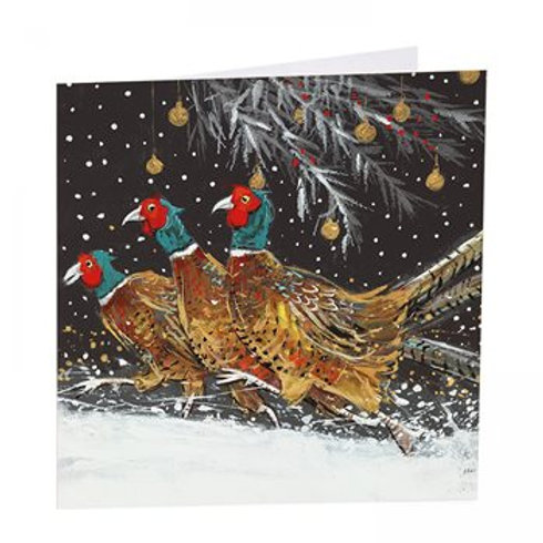 Christmas Pheasants Pack of 6 Cards