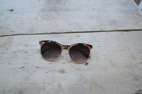 Eliza Gracious Rose Gold Clubmaster Sunglasses
