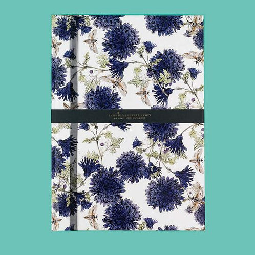Jessica Russel Flint A5 Half Lined Hardback Notepad 'Botanical Bees'