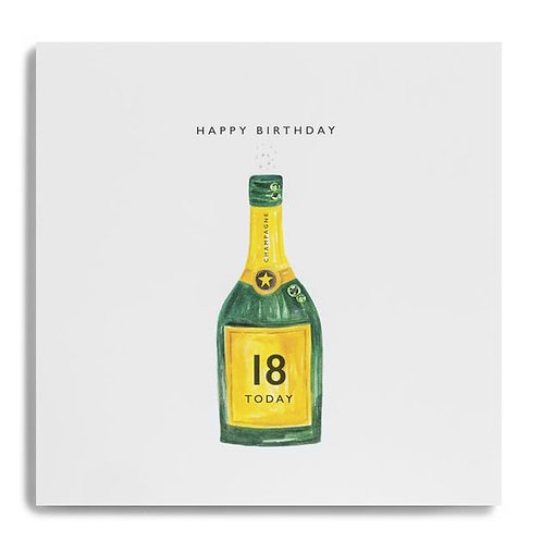 18 Happy Bithday 18 Today - Bottle of Champagne