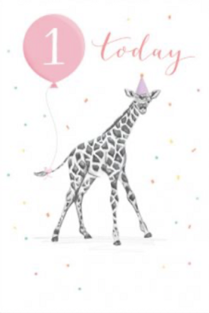 1 Today Pink Birthday Card