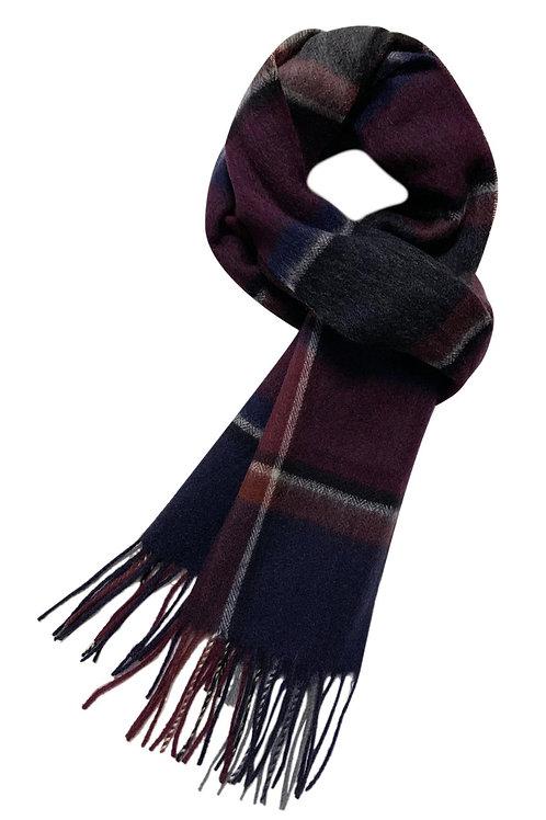 Classic Check Tartan Wool Scarf