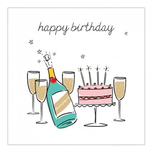 Happy Birthday Champagne Cake