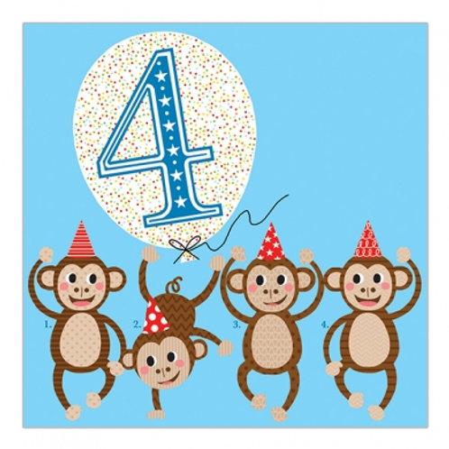 4 Monkeys. Blue