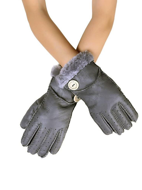 Handmade Soft Leather Gloves Grey